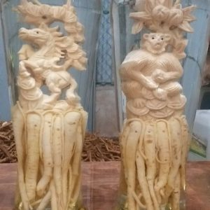 Đinh lăng điêu khắc 12 con giáp tuổi Ngọ - Bình 7 lít