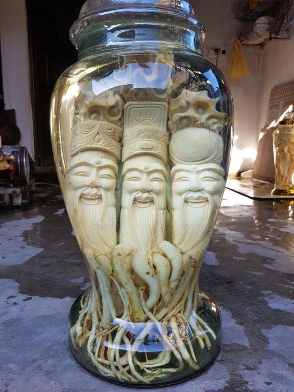 Phúc - Lộc - Thọ - Tam Đa - Đinh lăng điêu khắc - 25lít