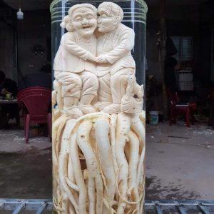 Ông bà bên nhau - Đinh lăng điêu khắc - Bình phú hòa 25.8 lít